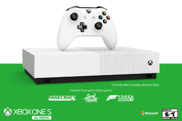 Microsoft unveils disc-free Xbox One S All-Digital Edition