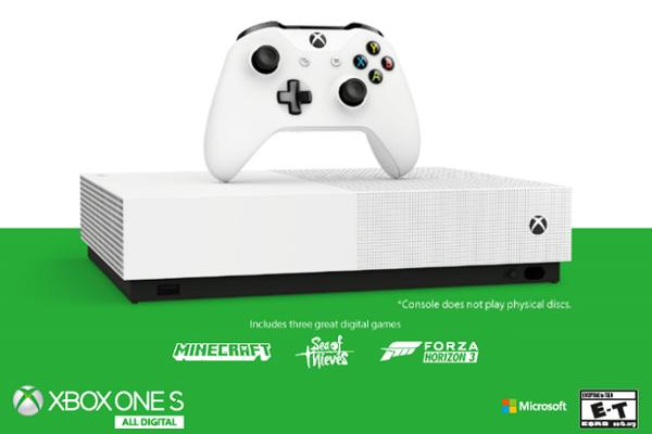 Microsoft unveils disc-free Xbox One S All-Digital Edition