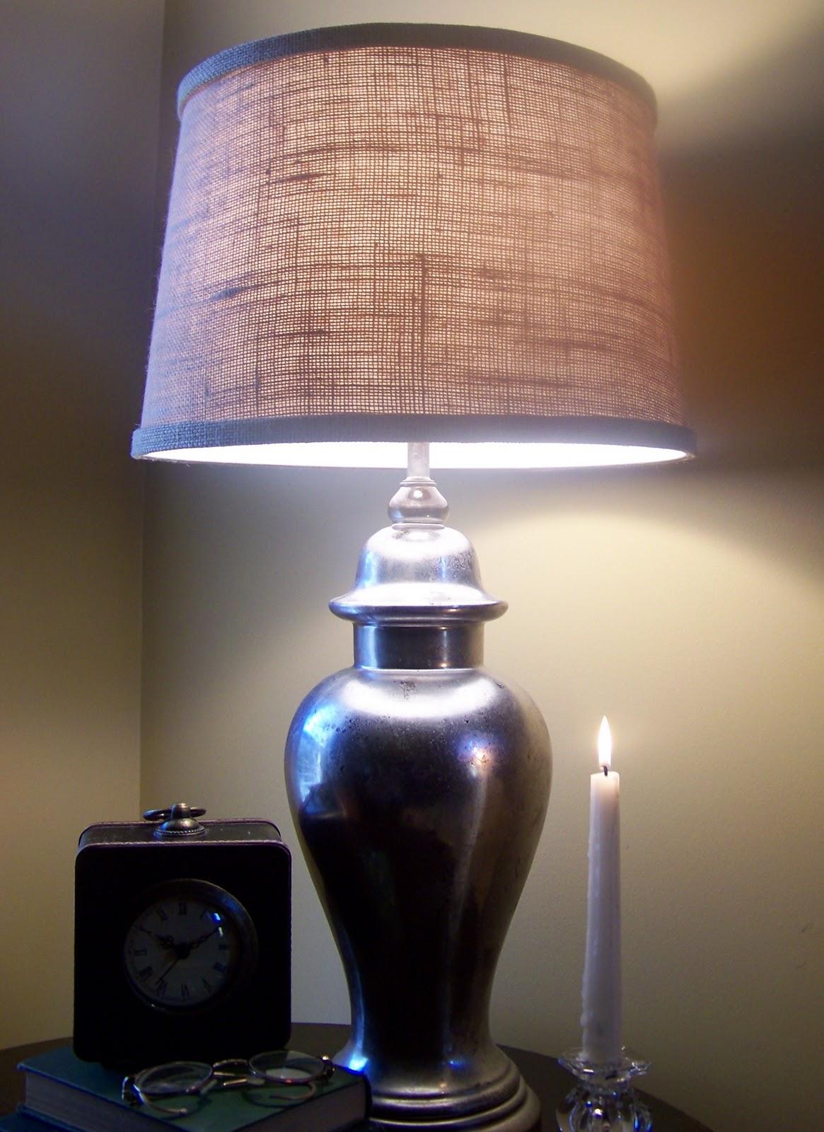Designing Details Burlap Lamp Shade Amp Mercury Glass Lamp