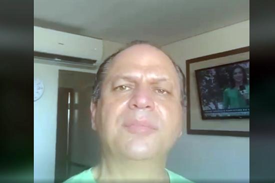 Ricardo Barros gravou do hospital mensagem para amigos e eleitores
