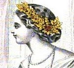 A wreath worn in the hair, Godey's, January 1861