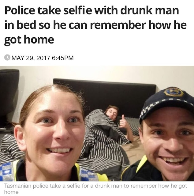 Tasmanian Police Take Selfie With Drunk Humans So Viral
