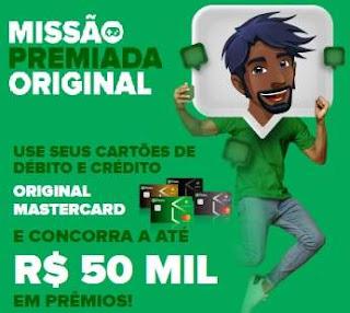 Cadastrar Promoção Original Cartões Mastercard - Concorra Até 50 Mil em Prêmios