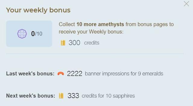 collect item to get easyhits4u weekly bonus