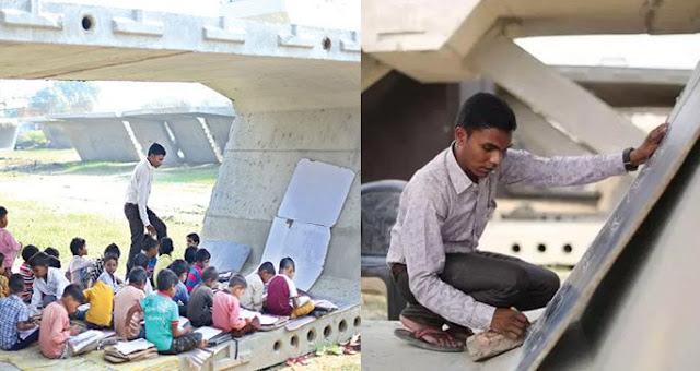 ऐसा स्कूल जिसका क्लासरूम है फ्लाईओवर पत्थर के नीचे... - newsonfloor.com