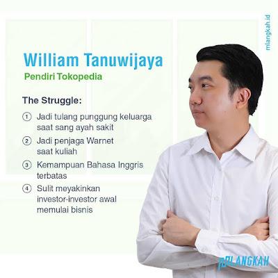 inspirasi kisah sukses wiliam tanuwijaya tokopedia