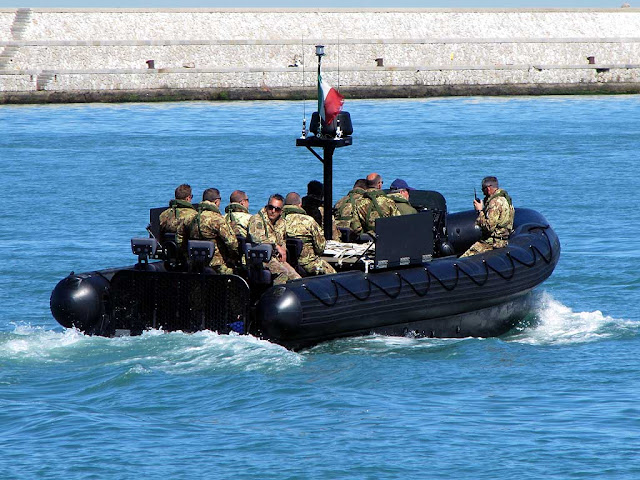 Italian Navy RIB, port of Livorno