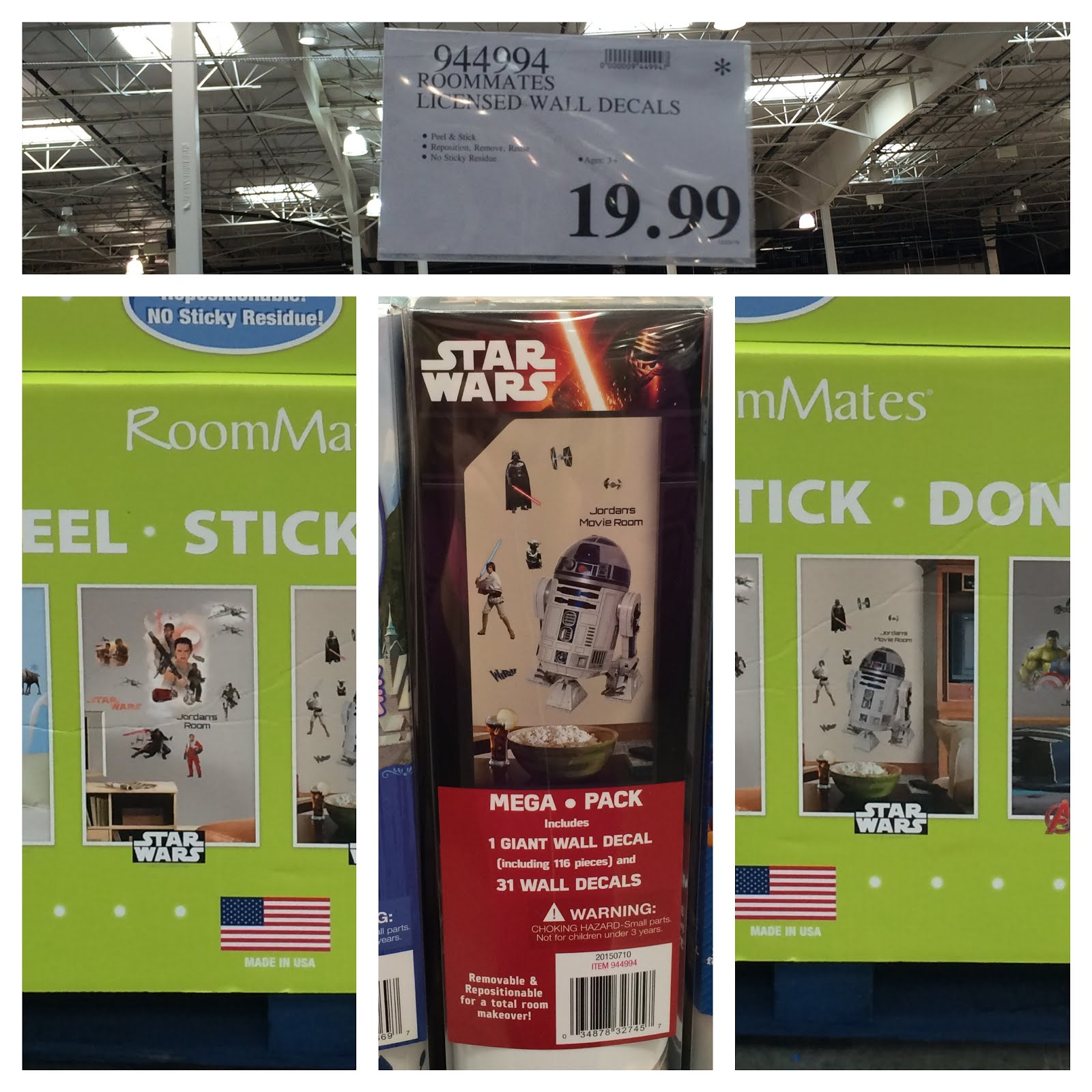 Decorate Any Room With These Removable Star Wars Wall Decals And Star Wars  Character Area Rug.