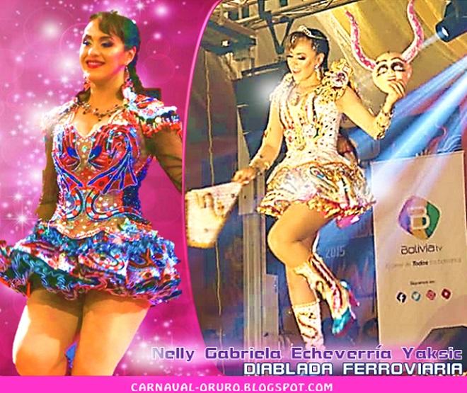 Nelly Gabriela Echeverría Yaksic Diablada Ferroviaria