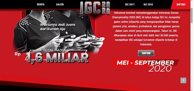 Indonesia Games Championship Total Hadiah Rp1,6 Miliar