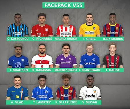 PES 2017 New Facepack V55