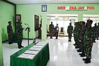 Komandan Kodim Jepara Pimpin Korps Raports Serah terima Jabatan Danramil