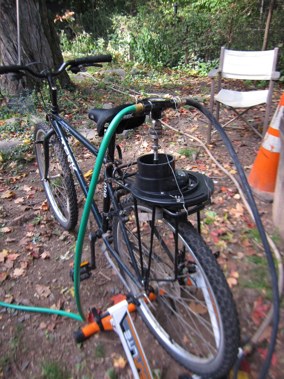 Commmunity Gardening Bicycle Powered Water Pump For