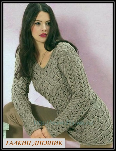 jenskii ajurnii pulover spicami