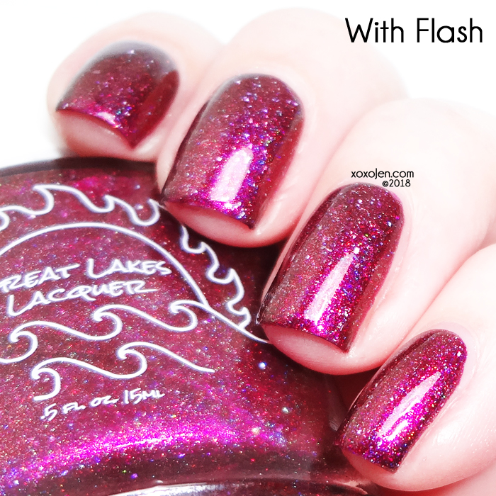 xoxoJen's swatch of Great Lakes Lacquer for Polish Pick Up: Redrum