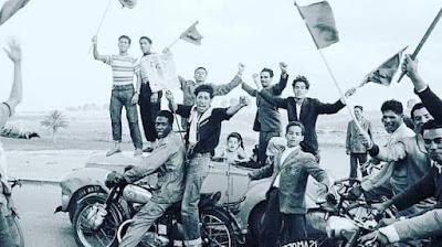 فرحة المغاربة بفجر الاستقلال  و الحرية