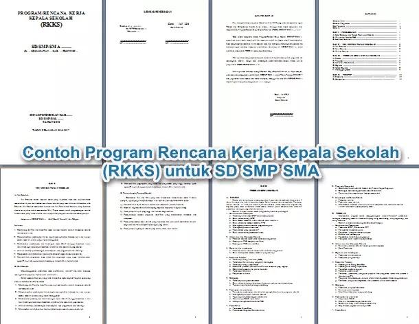 Contoh Program Rencana Kerja Kepala Sekolah (RKKS) untuk SD SMP SMA