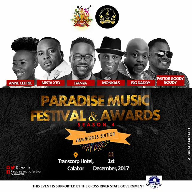 Cross River State Government adopts Paradise Music Festival & Awards 2017