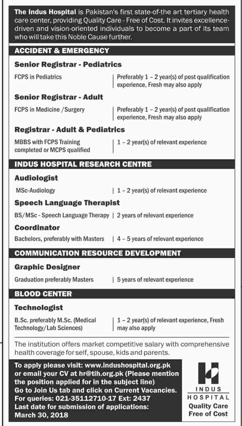 Jobs for Doctors in Pakistan, Medical Officer Jobs, Registrar Jobs, Specialists Jobs
