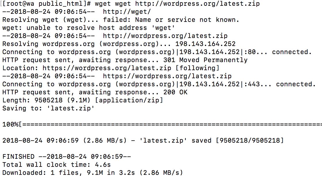 Install WordPress SSH PuTTY Root VestaCP