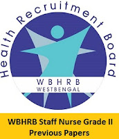 WBHRB Staff Nurse Grade II Previous Papers
