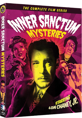 Cover art for Mill Creek Entertainment's INNER SANCTUM MYSTERIES: THE COMPLETE FILM SERIES Blu-ray set!