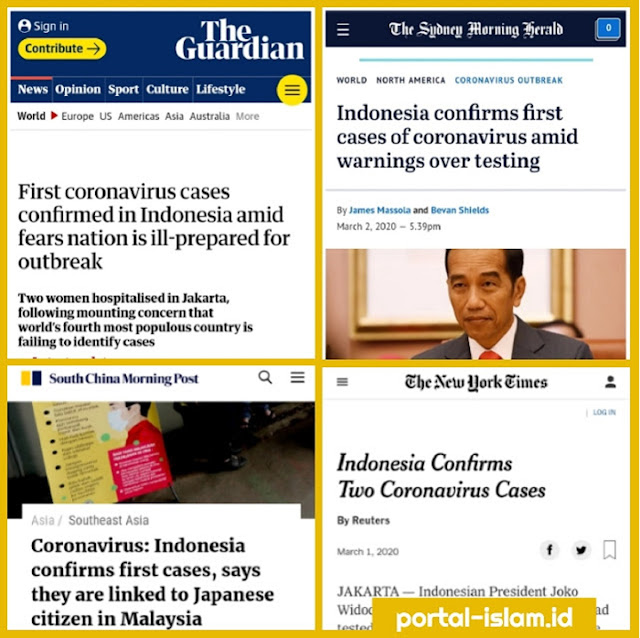 Media-media Asing Soroti Kasus Corona Pertama Indonesia, Yang Sebelumnya Selalu Dibantah