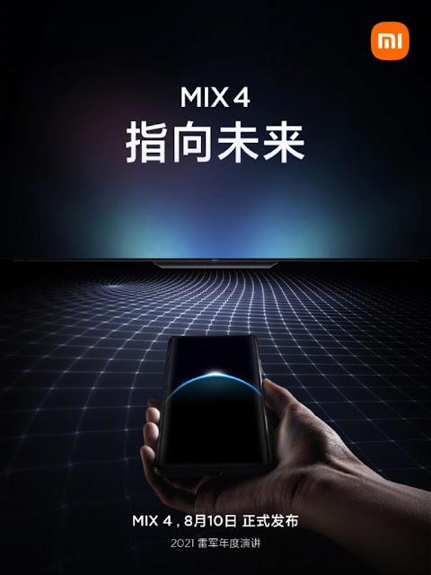 تشويق لهاتف Xiaomi Mi Mix 4 مع كاميرا تحت الشاشة وتقنية UWB
