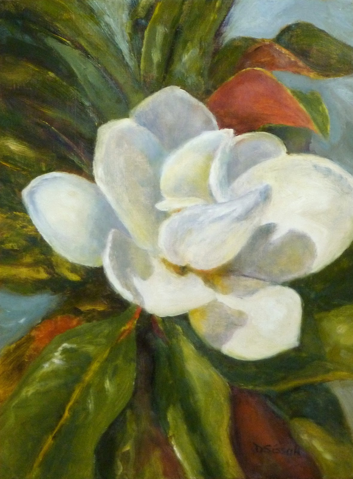 Daily Painting Projects: Summer Magnolia Oil Painting ...