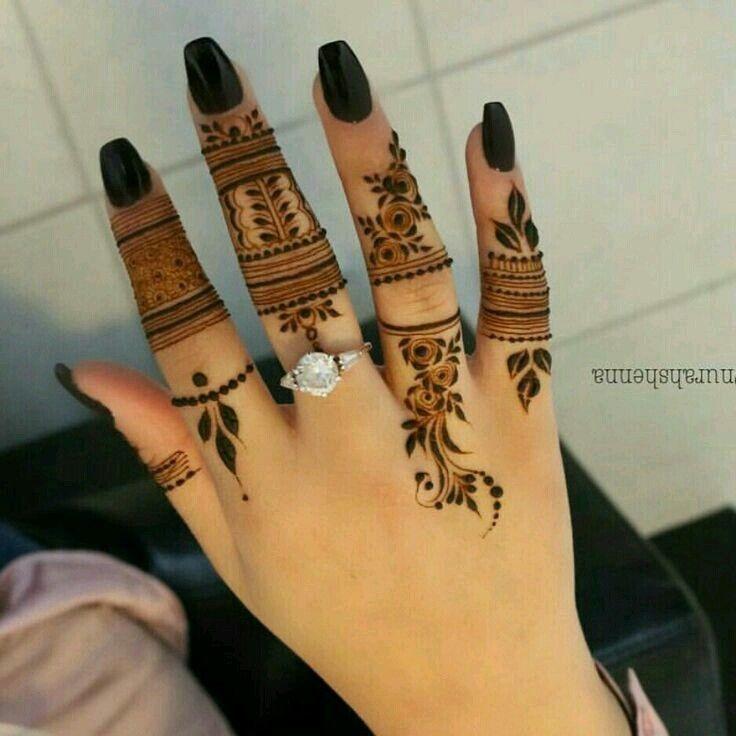 Unique One Finger Mehndi Design Simple Easy Mehndi Design