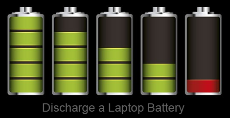 how to empty a laptop battery