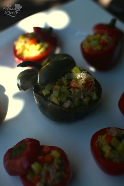 Pimientos cherry rellenos con guiso de vegetales y atún tererecetas 07