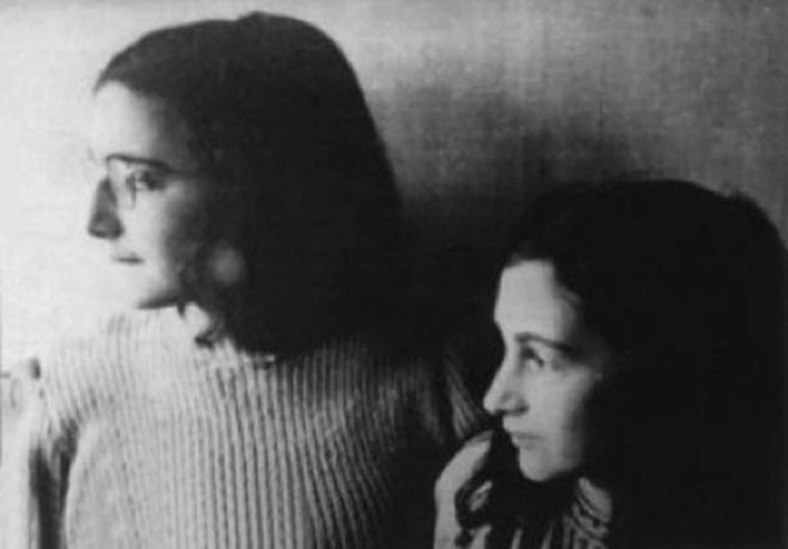 Anne and Margot Frank, 1942. This is believed to be the last photo of Anne Frank.