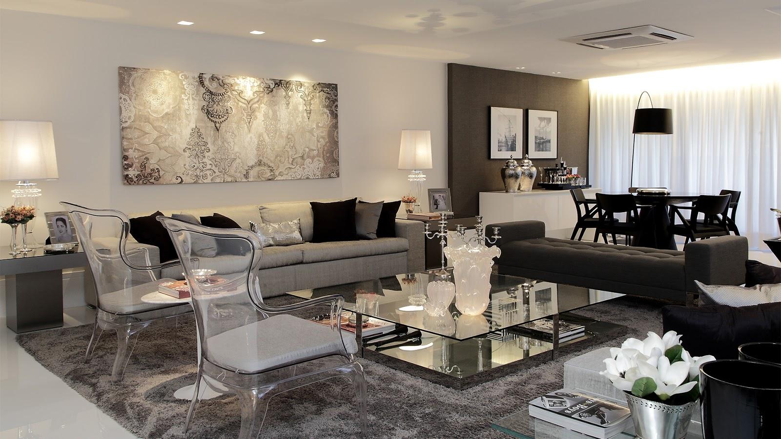 Construindo minha casa clean consultoria de decora o for Sala de estar lujosa