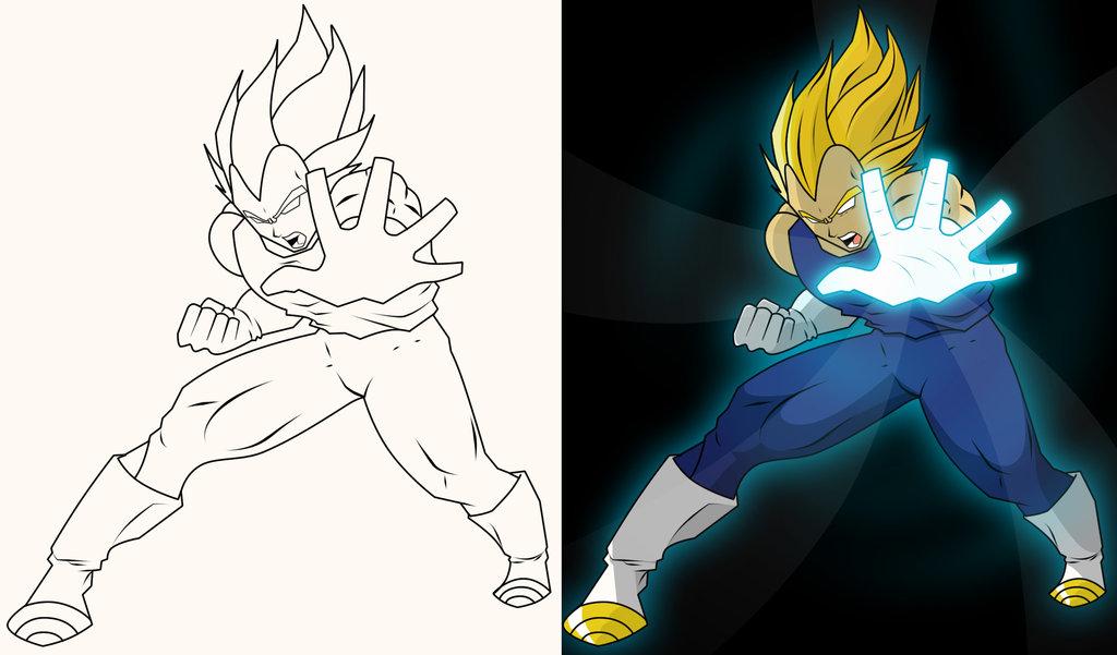 Goku Y Vegeta Imagen Facil De Dibujar Jaja