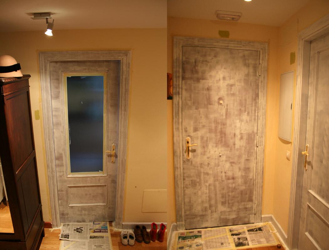 Puertas de madera como pintar las puertas de madera for Pintar puertas