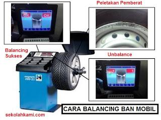 pengertian dan cara balancing ban mobil