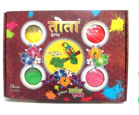 Tota Herbal Gulal Gift Pack 4 Pc Of 50gms