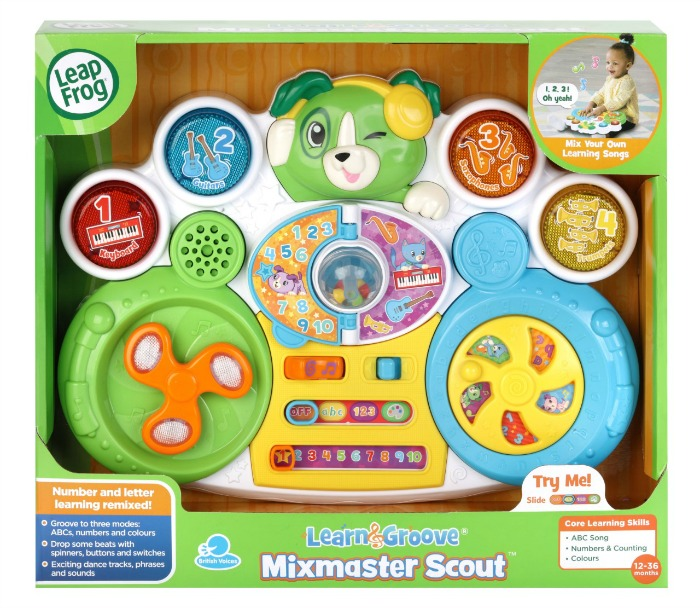 Leanr abcs, numbers, colours and sounds with LeapFrogs Mixmaster Scout