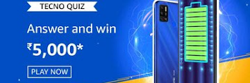 Amazon Tecno Quiz - TECNO SPARK 6 Air Is Equipped With A Massive Battery, What Is It's Capacity?