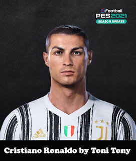 PES 2021 Faces Cristiano Ronaldo by Toni Tony