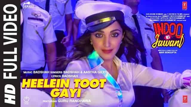 हीलें टूट गयी Heelein Toot Gayi Hindi Lyrics - Badshah