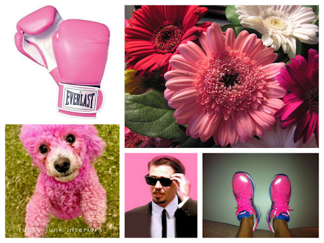 A shower of Think Pink for Cindy - cancer support group via Funky Junk Interiors