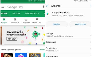 Instal versi terbaru Google Play