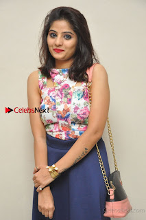 Kannada Actress Mahi Rajput Pos in Floral Printed Blouse at Premam Short Film Preview Press Meet  0008.jpg