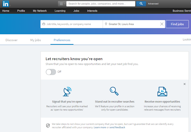 notifying recruiters of your availability