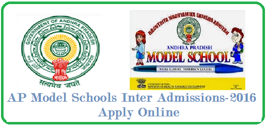 AP Model Schools Inter Admissions 2016-2017 Notification AP Model Schools Inter Admissions 2016 Notifications| AP Schools | Inter first year | admissions |Inter first year admissions are started in Andhra Pradesh Model schools|AP State Model School Inter Admission Notification 2016,Commissioner and Director of School Education has issued the AP Model School Inter first year Admissions 2016 Notification in the month of April 2016.The APMS and C and DSEAP invites the online application form from the eligible AP SSC Candidates for admission into Andhra Pradesh Model Schools for this academic year 2016-2017. /2016/05/ap-model-schools-inter-admissions-2016-20-17-notification-apms.cgg.gov.in.html