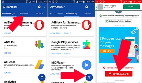 شرح استخدام تطبيق APKGrabber