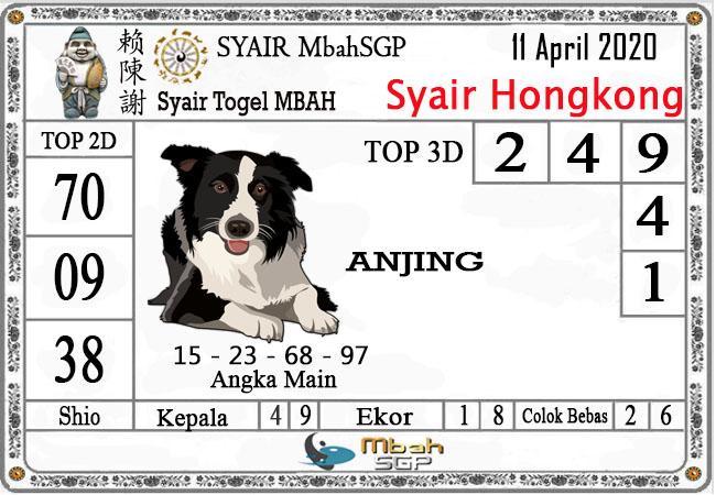 Prediksi HK Malam Ini Sabtu 11 April 2020 - Syair Mbah HK