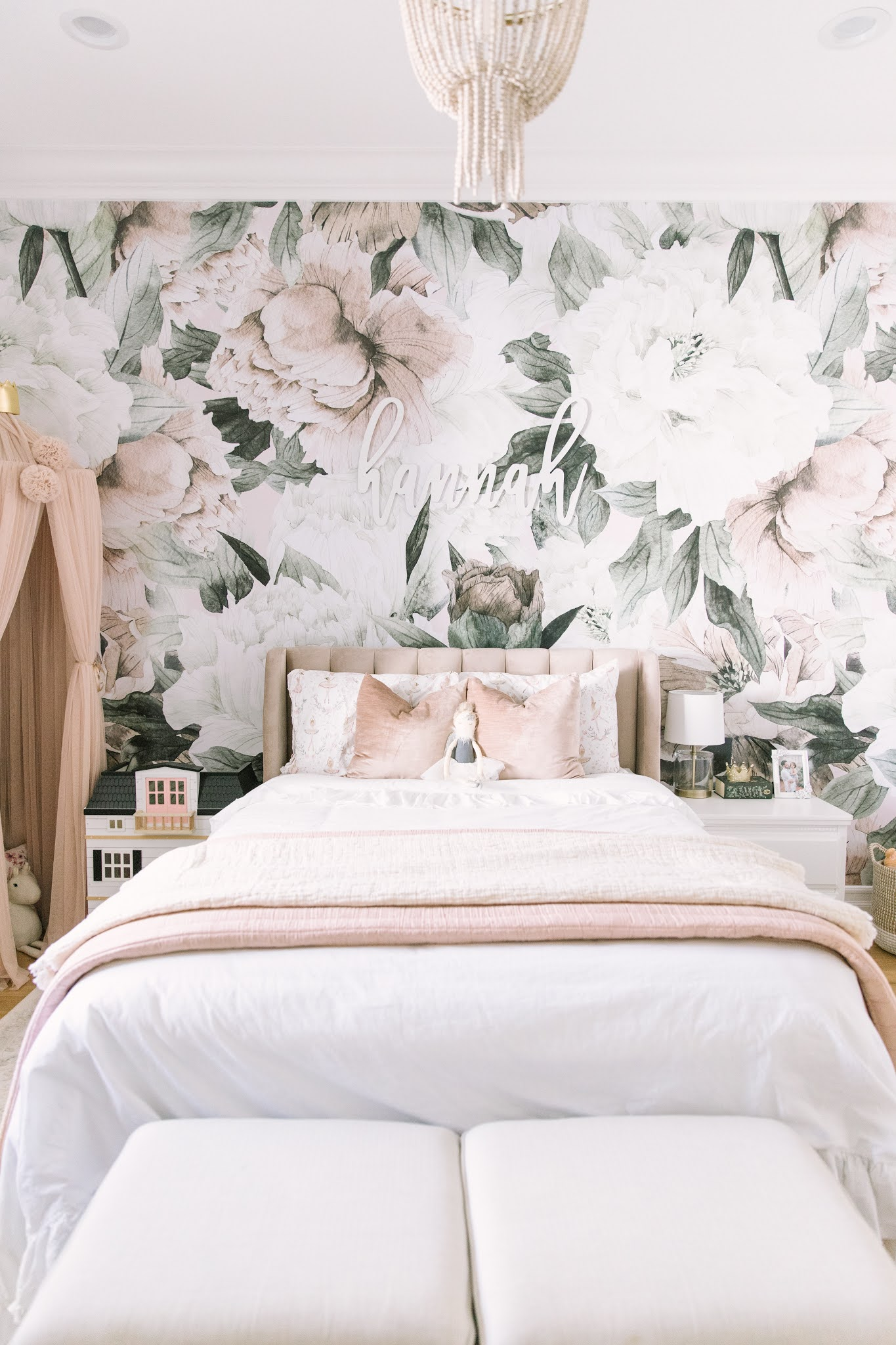 vintage floral big girl room
